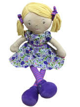 Personalised Rag Doll Peggy Suitable from birth